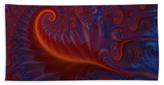 Into The Flames Beach Towel