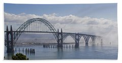 Into The Fog At Newport Beach Towel