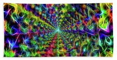 Beach Towel featuring the digital art Into The Light by Aliceann Carlton