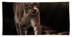 Into The Light - Lynx Art Beach Towel