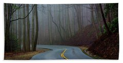 Beach Towel featuring the photograph Into The Mist by Douglas Stucky