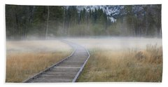 Beach Towel featuring the photograph Into The Mist by Sandra Bronstein