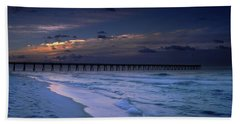 Beach Towel featuring the photograph Into The Night by Renee Hardison