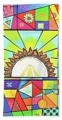 Into The Sun Beach Sheet by Jeremy Aiyadurai