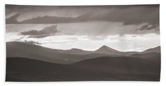 Into The Sunset - Bw Beach Towel