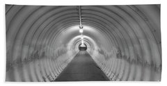Beach Towel featuring the photograph Into The Tunnel by Juli Scalzi