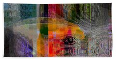 Intuitional Abstract Beach Towel