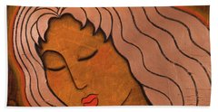 Intuitive Listening Beach Towel by Gloria Rothrock