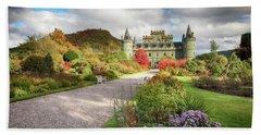 Inveraray Castle Garden In Autumn Beach Towel
