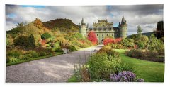 Inveraray Castle Garden In Autumn Beach Sheet