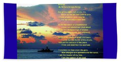 Invictus By William Ernest Henley Beach Towel