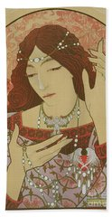Invocation To The Madonna Of Green Onyx Beach Towel