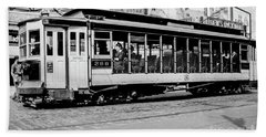 Beach Towel featuring the photograph Inwood Crosstown Trolley  by Cole Thompson