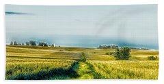 Iowa Cornfield Panorama Beach Towel