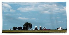 Beach Towel featuring the photograph Iowa Farm  by Yumi Johnson