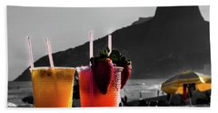 Ipanema With Cocktails Beach Towel