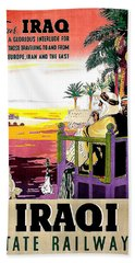 Iraq Tour By State Railway Beach Towel