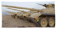 Iraqi T-72 Tanks From Iraqi Army Beach Towel