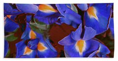 Iris Abandon 15 Beach Towel by Lynda Lehmann