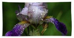 Iris After The Rain 1409 H_2 Beach Towel