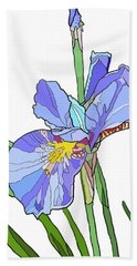 Iris And Bud Beach Towel