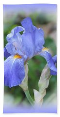 Iris Beauty Beach Towel by MTBobbins Photography