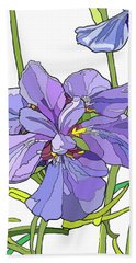 Iris Blossoms Beach Towel