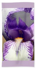Beach Towel featuring the photograph Iris Close-up by Sheila Brown