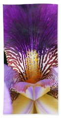 Beach Towel featuring the photograph Iris Close Up by William Selander