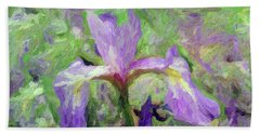 Iris Beach Towel by Don Wright
