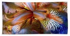 Beach Sheet featuring the mixed media Iris Dream by Lynda Lehmann