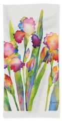 Iris Elegance Beach Towel
