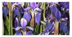 Beach Towel featuring the photograph Iris Fantasy by Benanne Stiens