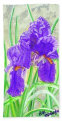 Iris Hope Beach Towel