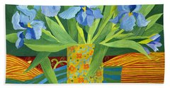 Iris Beach Towel by Jennifer Abbot