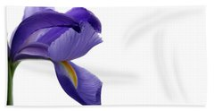 Beach Towel featuring the photograph Iris by Marie Leslie
