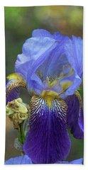 Iris Purple And Blue Beach Towel