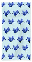 Beach Towel featuring the photograph Iris Recticulata-2 by Paul Gulliver