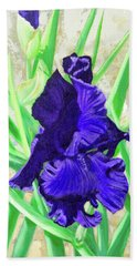 Iris Royalty Beach Towel