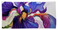 Iris Serenity Beach Towel by Marcia Baldwin