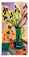 Iris Spring Beach Towel