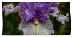 Beach Towel featuring the photograph Iris Standout by Jean Noren