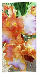 Irises 10 Beach Towel