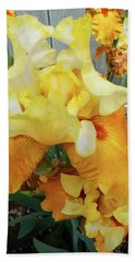 Irises 13 Beach Towel