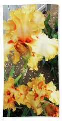Irises 15 Beach Towel