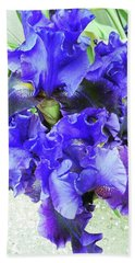 Irises 18 Beach Towel