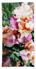 Irises 19 Beach Towel