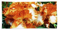 Irises 21 Beach Towel