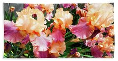 Irises 24 Beach Towel