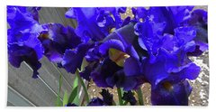 Irises 26 Beach Towel